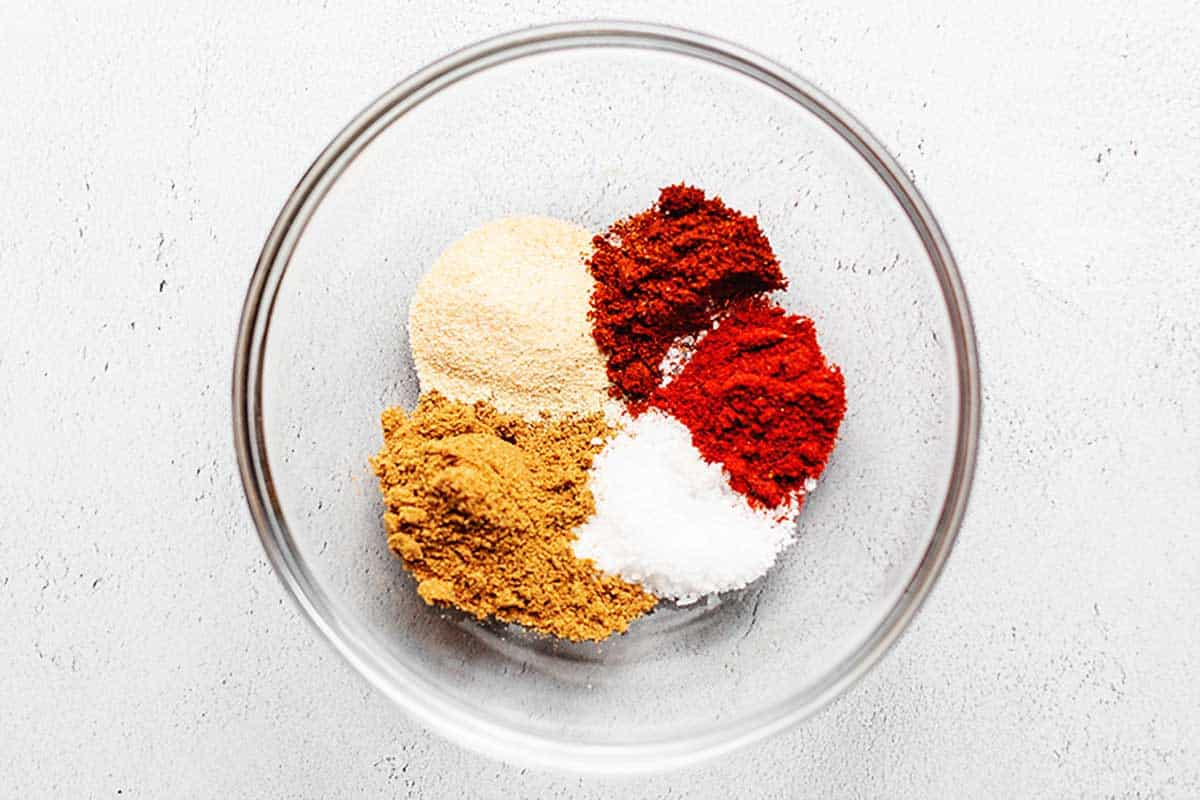 taco seasoning ingredients in a bowl