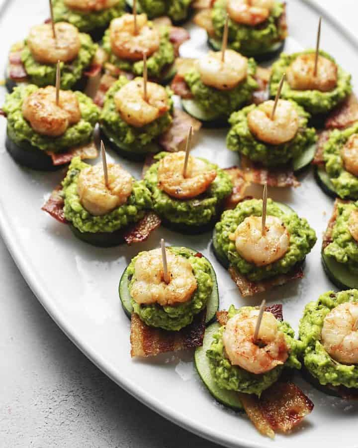 keto appetizers on a white plate