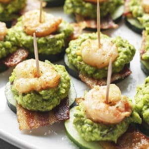 keto shrimp guacamole bacon appetizers