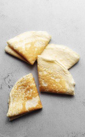4 keto crepes folded