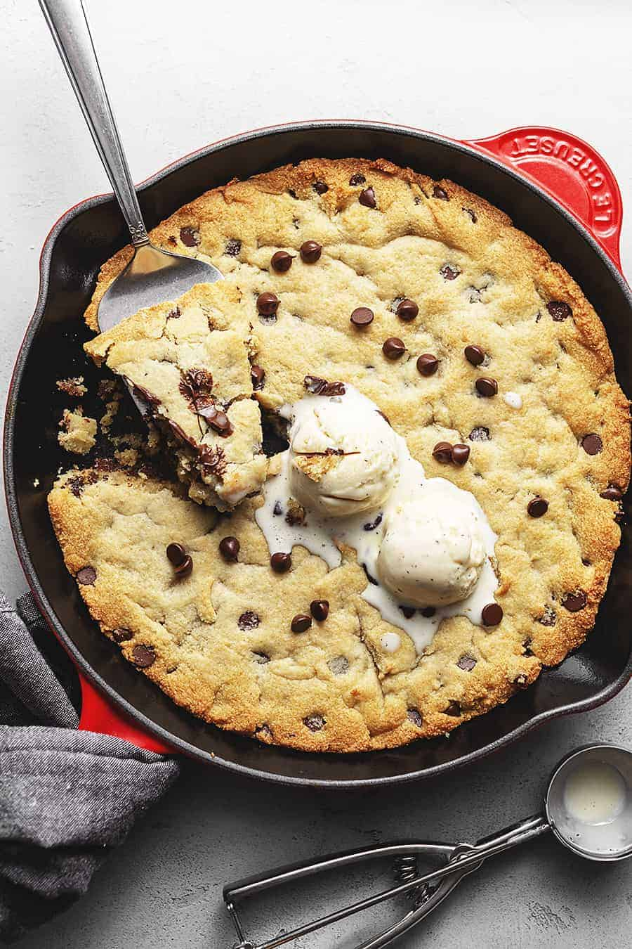 Keto Chocolate Chip Skillet Cookie Low Carb With Jennifer