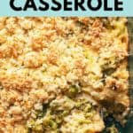 keto broccoli rice casserole pinterest pin