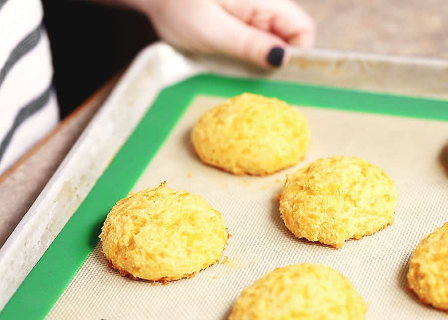 keto friendly biscuits out of the oven