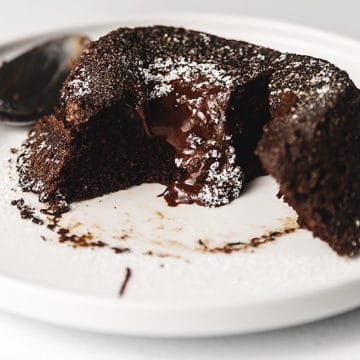 keto chocolate lava cake recipe image