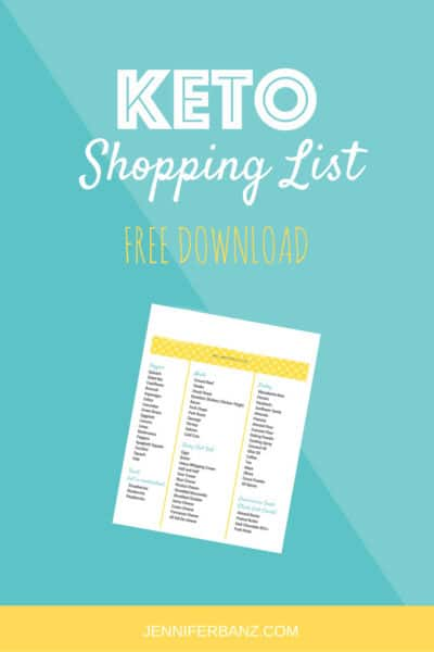 keto shopping list image