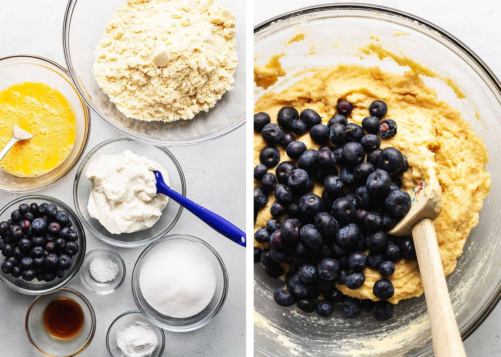 ingredients for keto blueberry muffins
