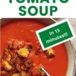 keto creamy tomato soup pinterest pin