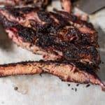 smoked ribs with dark bark
