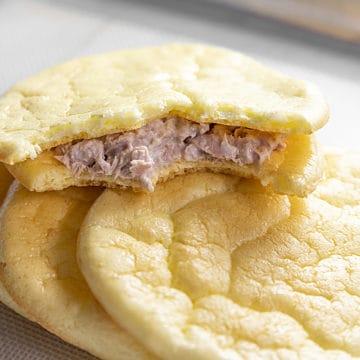 cloud bread sandwich with tuna