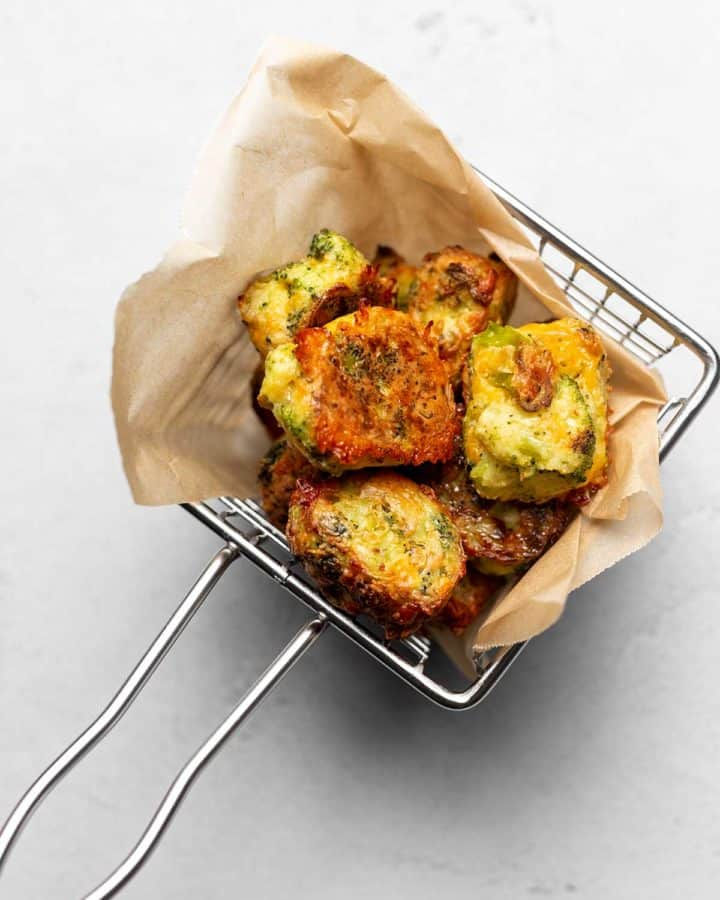 broccoli cheddar tots in a basket