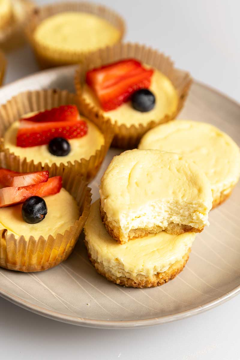 keto cheesecake bites in a plate