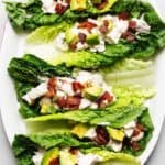 keto chicken lettuce wraps feature image