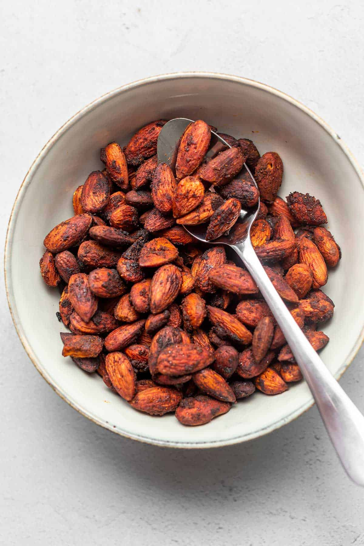 spiced almonds feature image
