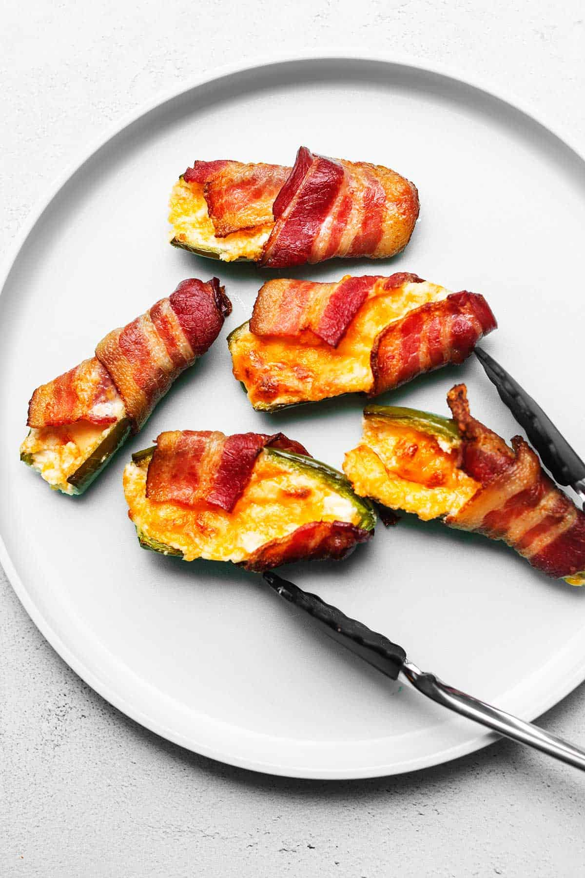 jalapeno poppers on a plate
