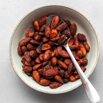 spiced almonds in a bowl