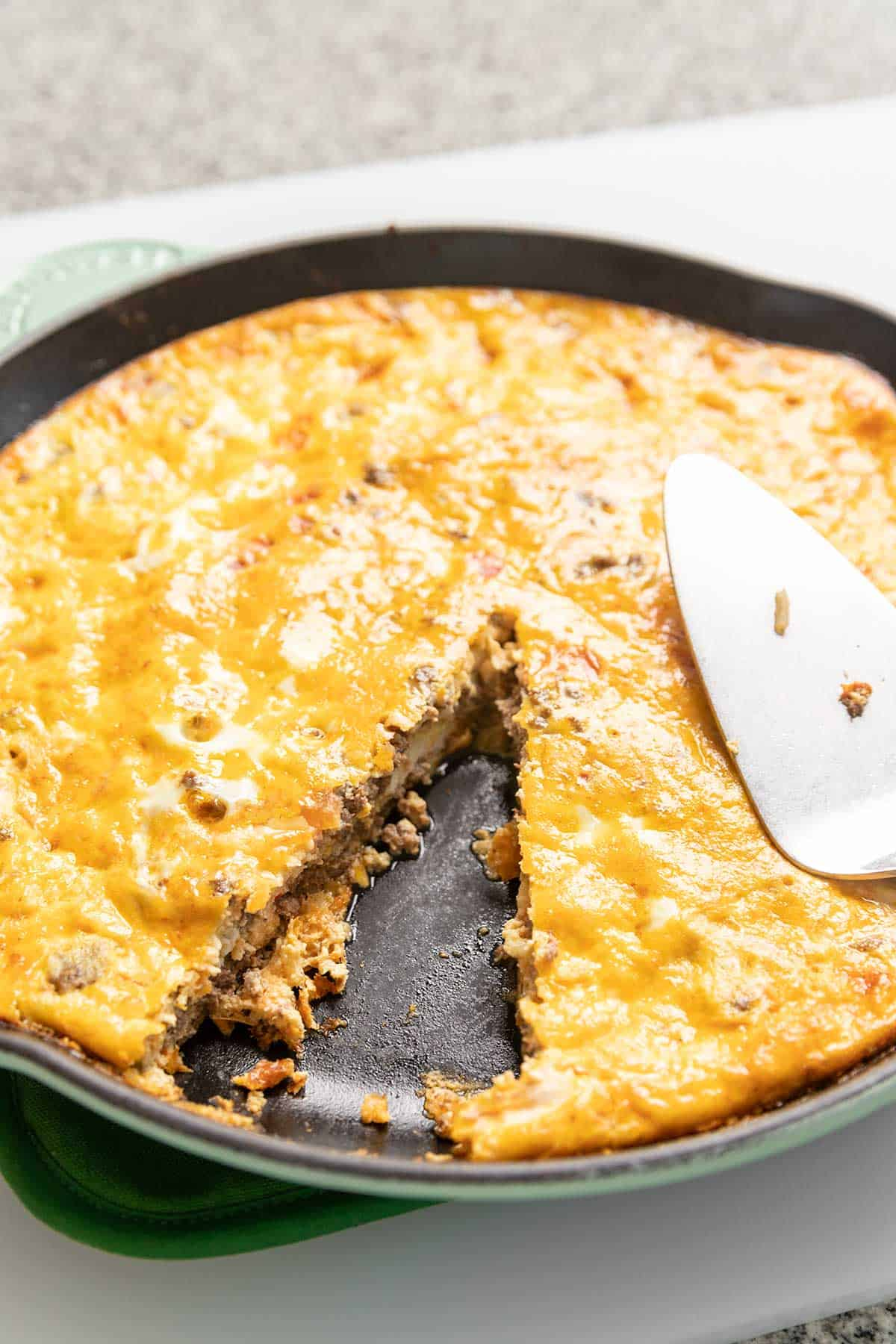 KETO TACO PIE IN A SKILLET