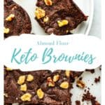 almond flour brownies pinterest pin