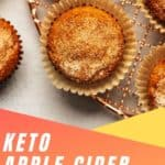 apple cider donut muffins pinterest pin