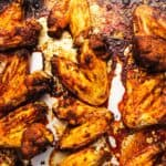chicken wings on a sheet tray