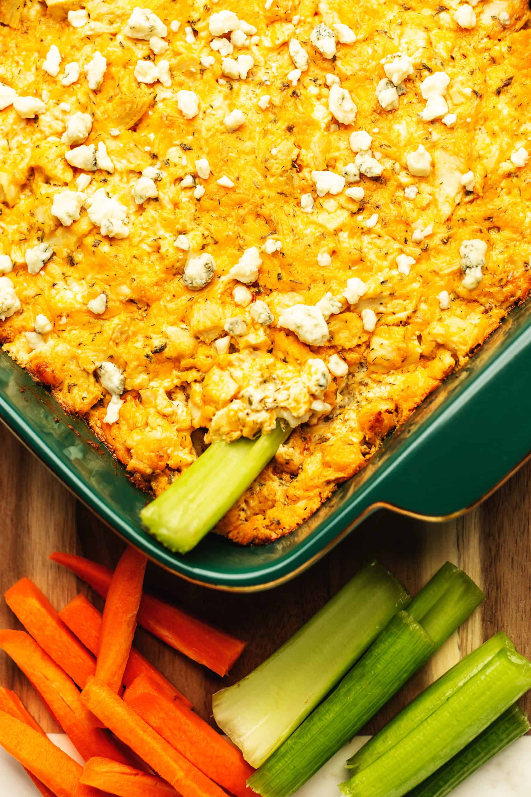 keto buffalo chicken dip feature image