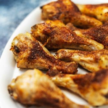crispy chicken legs on a plate