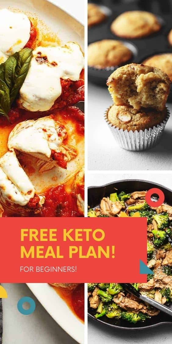 FREE KETO MEAL PLAN FOR BEGINNERS IMAGE